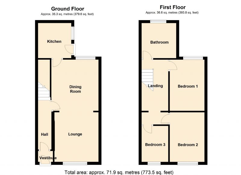 Floorplan for Guildford Road, Levenshulme, Manchester