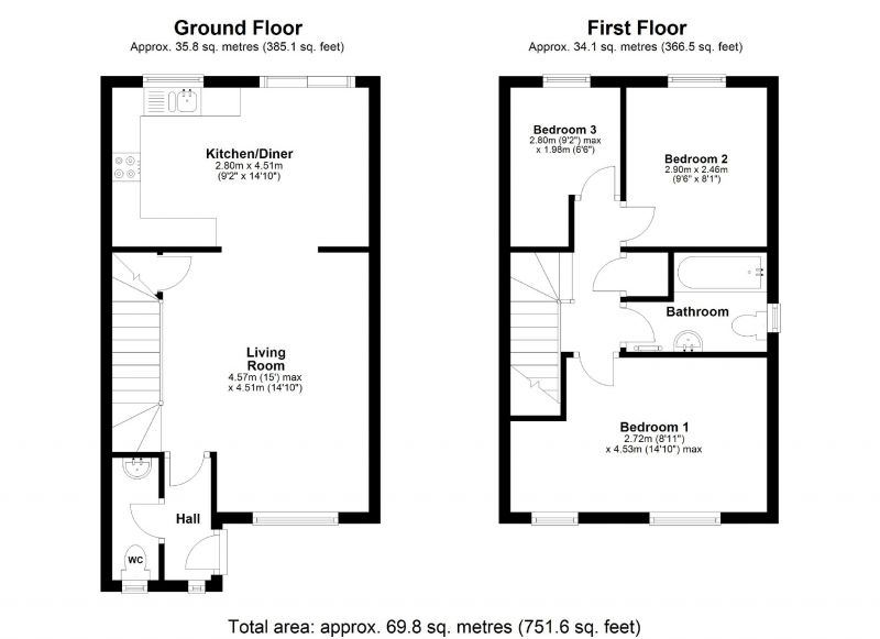 Floorplan for Orchard Vale, Edgeley, Stockport