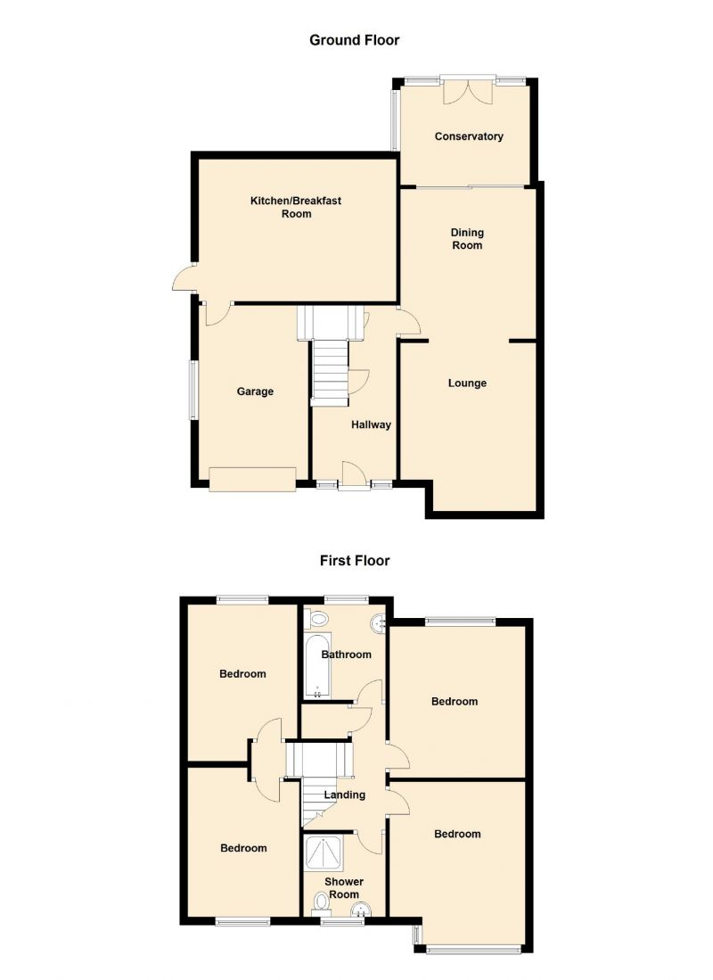 Floorplan for Faywood Drive, Marple, Stockport