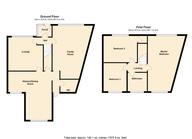 Floorplan for Woodfield Crescent, Romiley, Stockport
