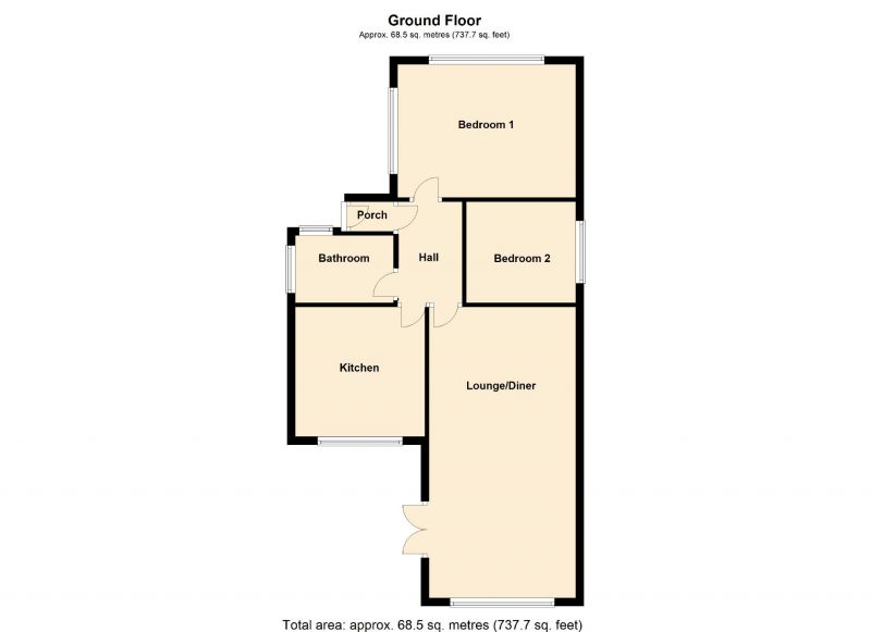 Floorplan for Richmond Road, Romiley, Stockport