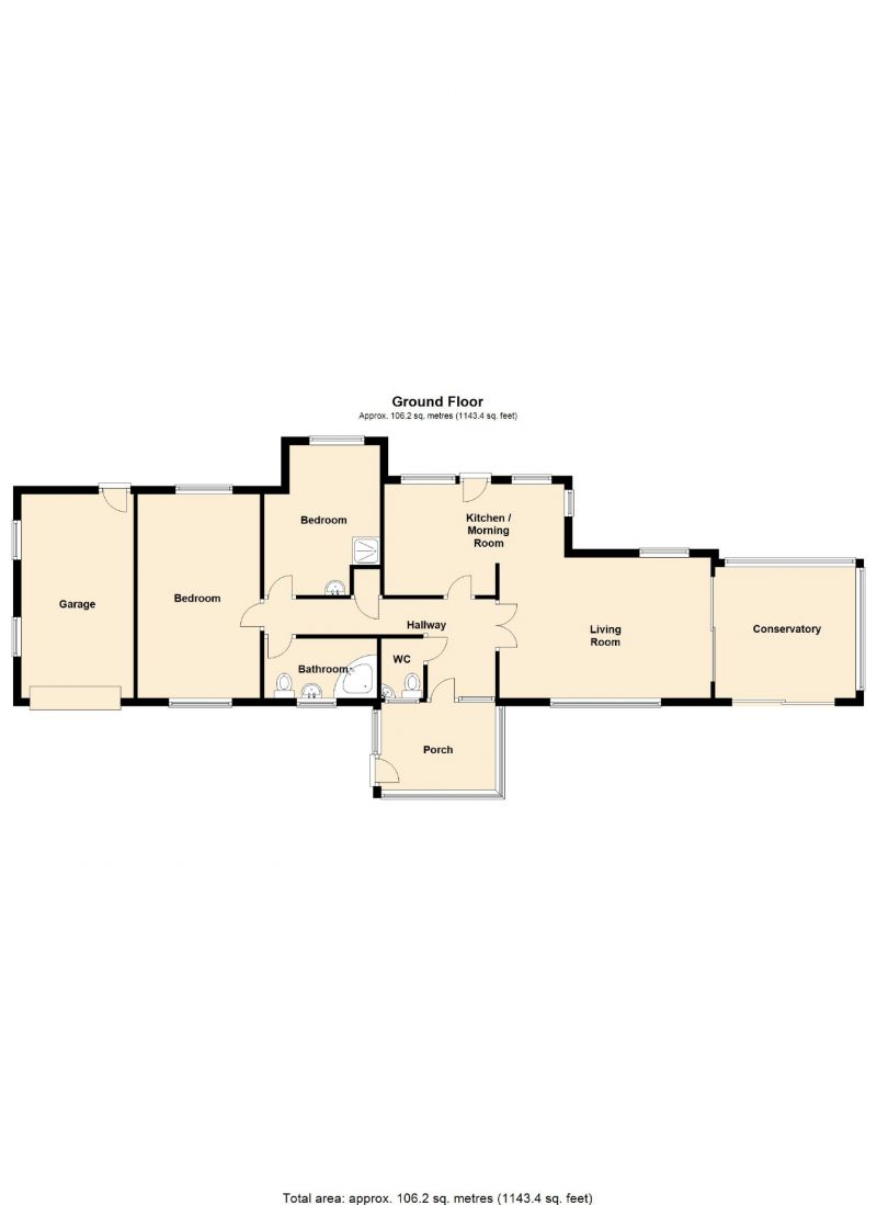 Floorplan for Beechwood Drive, Marple, Stockport
