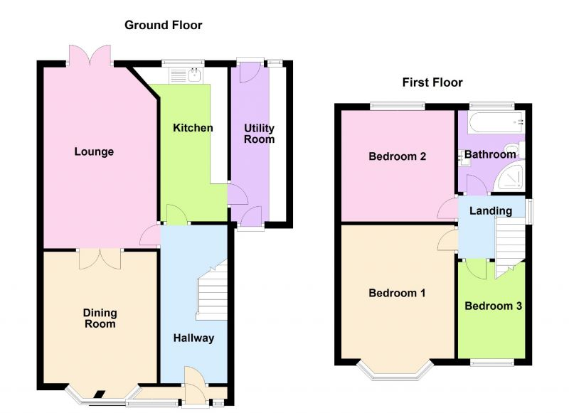 Floorplan for Montague Road, Ashton-under-lyne