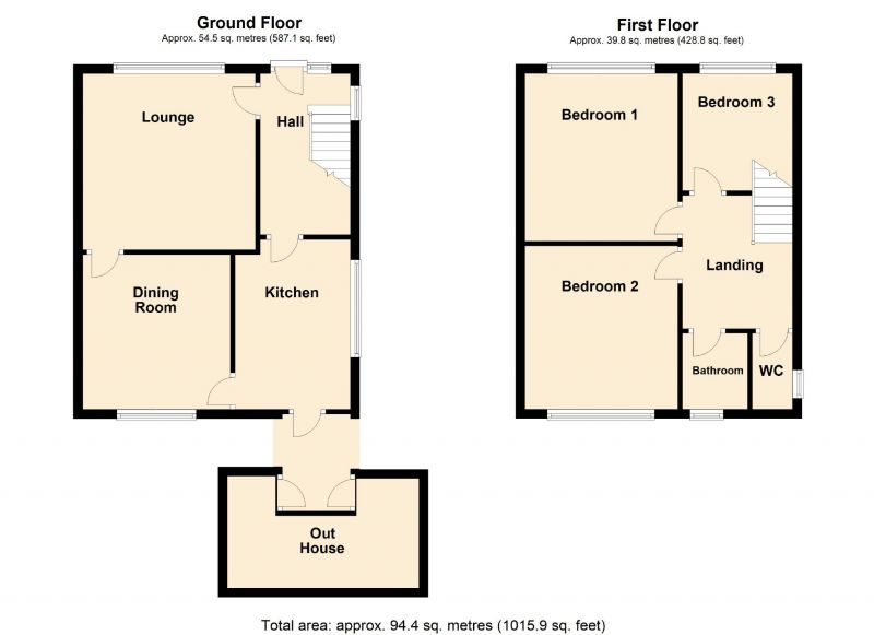 Floorplan for Springwood Crescent, Romiley, Stockport