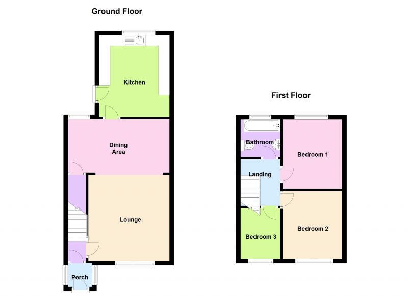 Floorplan for Mallory Avenue, Ashton-under-lyne