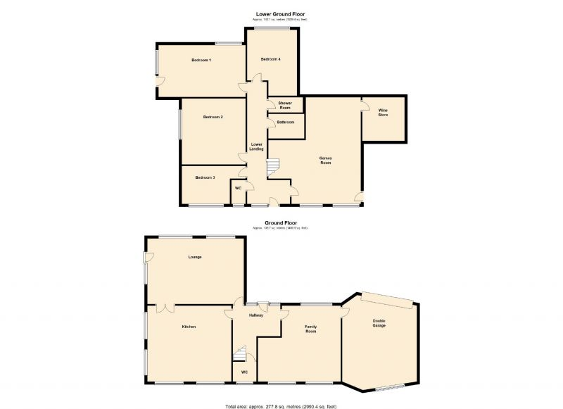 Floorplan for Bunkers Hill, Romiley, Stockport