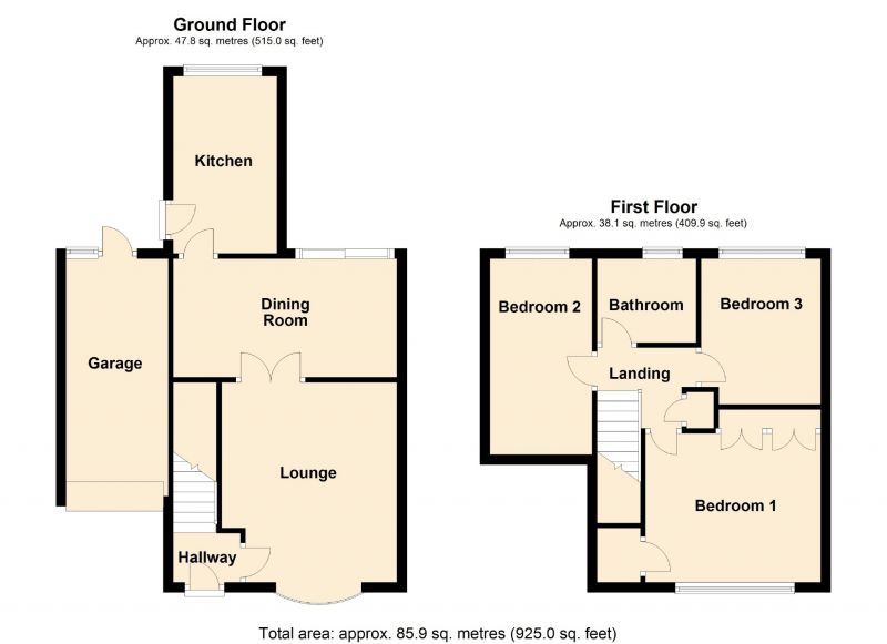 Floorplan for Kilnwick Close, Gorton, Manchester