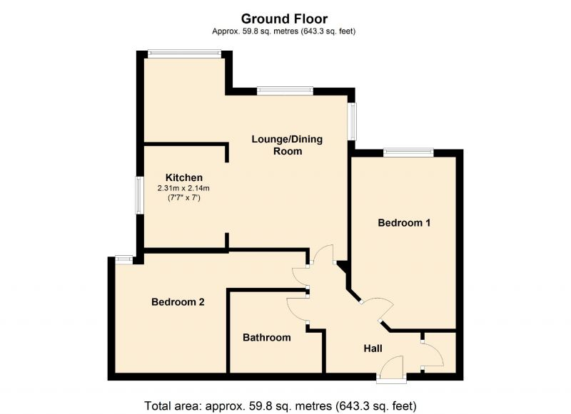 Floorplan for 2 Copper Place, Manchester