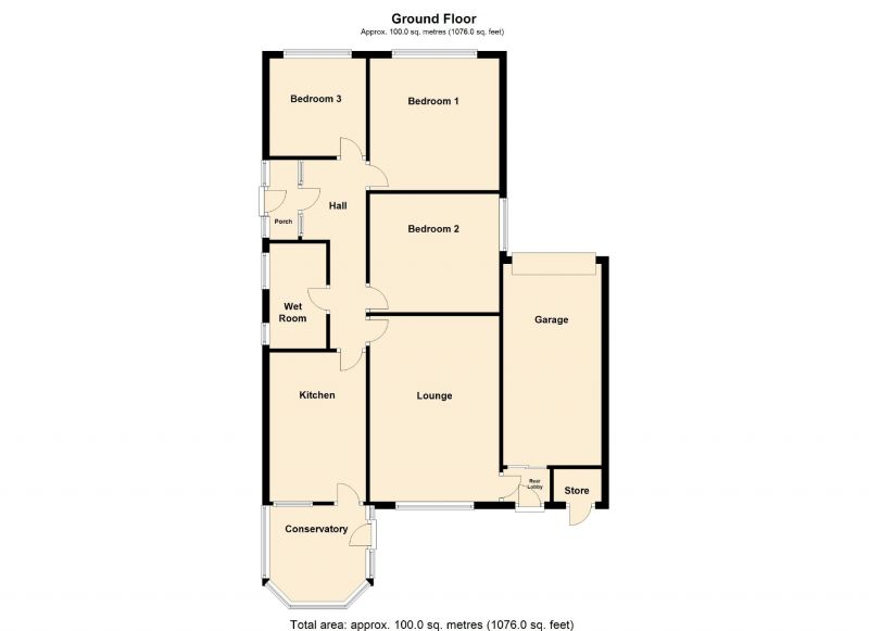 Floorplan for Catherine Road, Romiley, Stockport