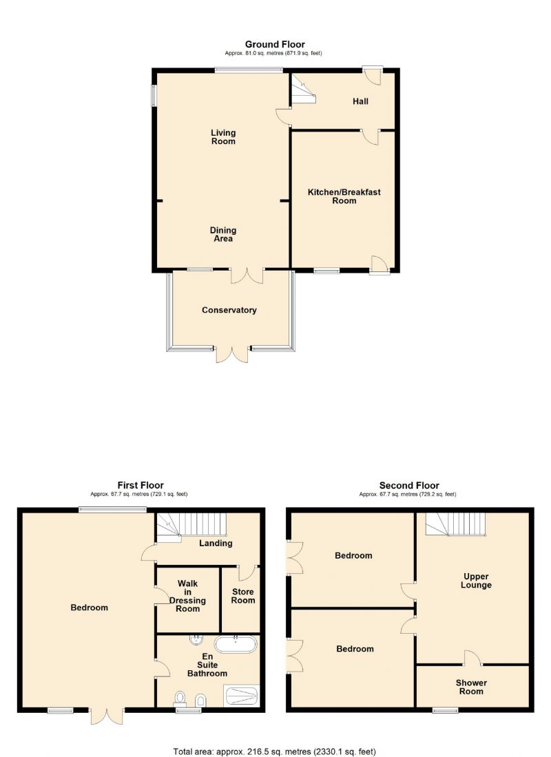 Floorplan for Woodend Fold, Strines, Stockport