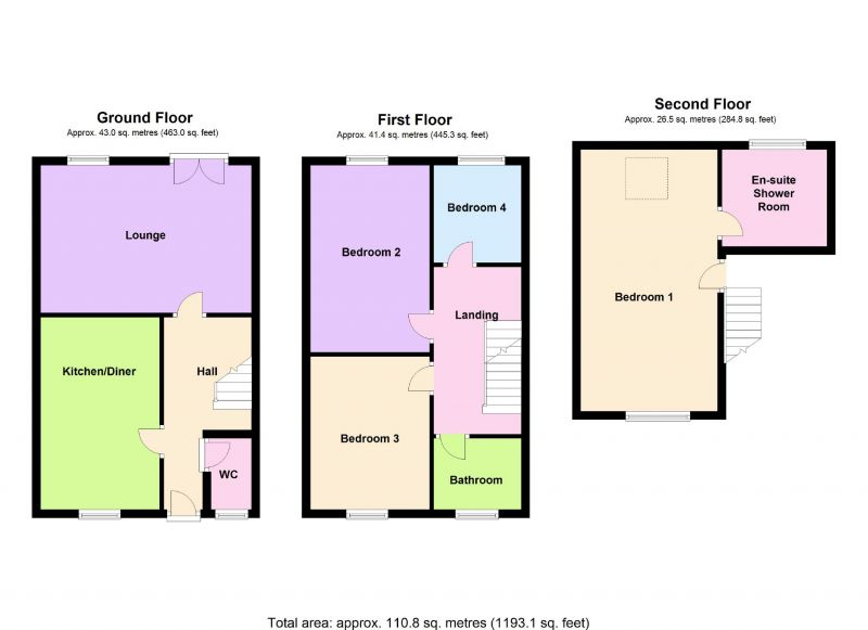 Floorplan for Kennett Drive, Bredbury, Stockport