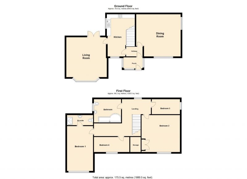 Floorplan for Hollow Vale Drive, Stockport