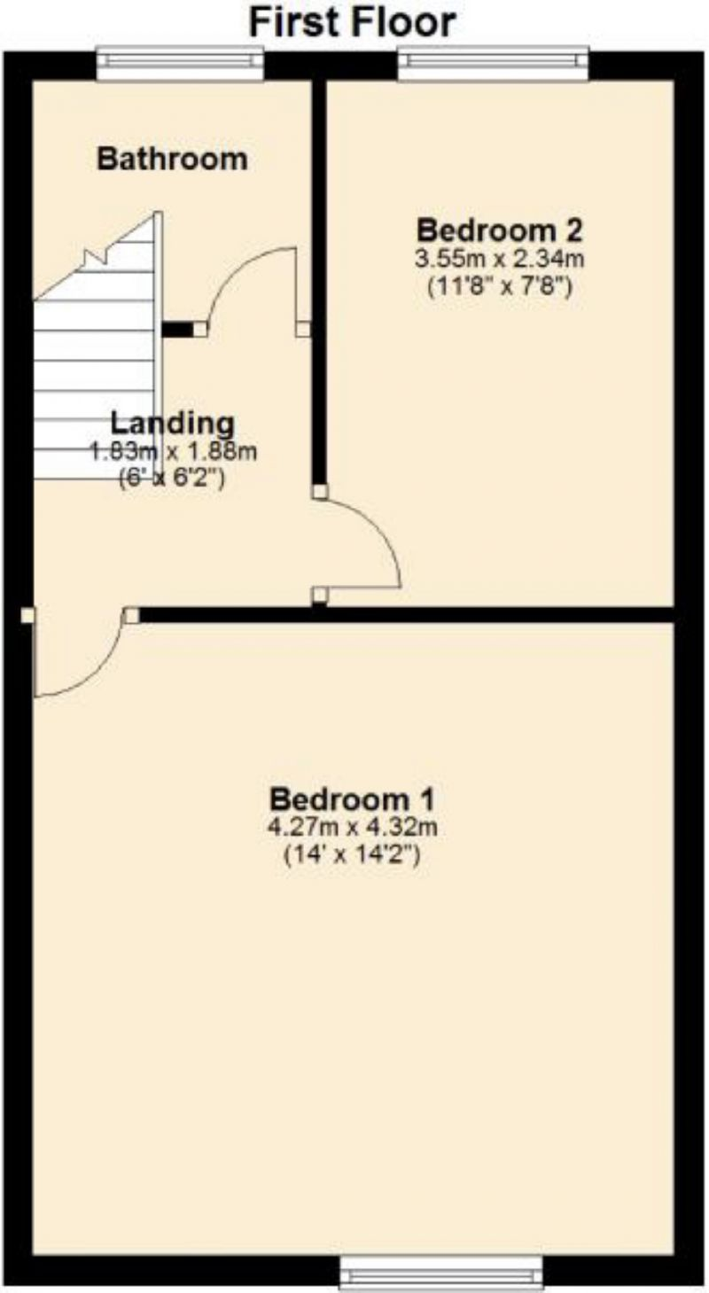 Floorplan for Ethel Street, Oldham
