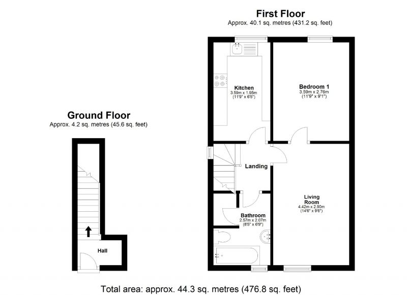 Floorplan for Walnut Tree Road, Cheadle Heath, Stockport