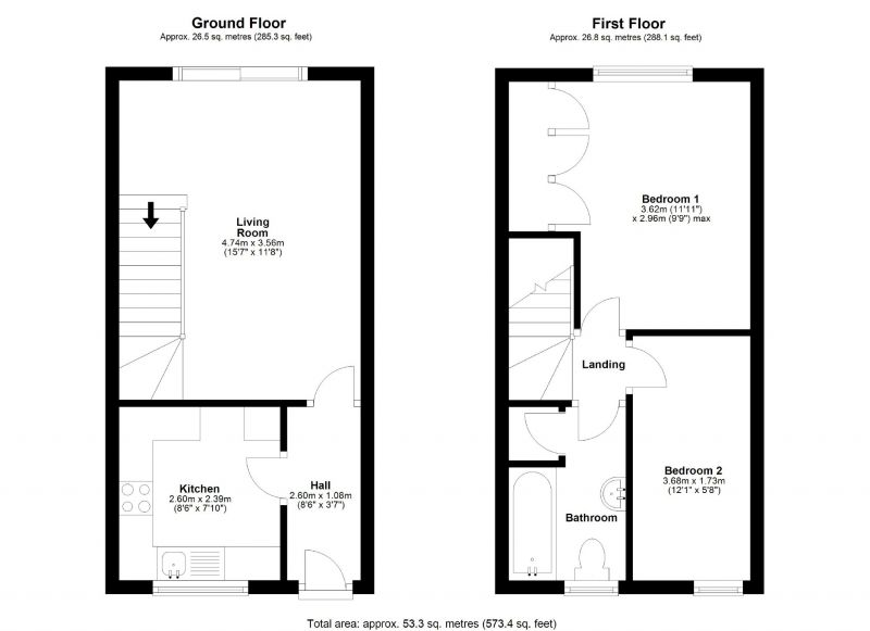 Floorplan for Petrel Close, Stockport, Stockport