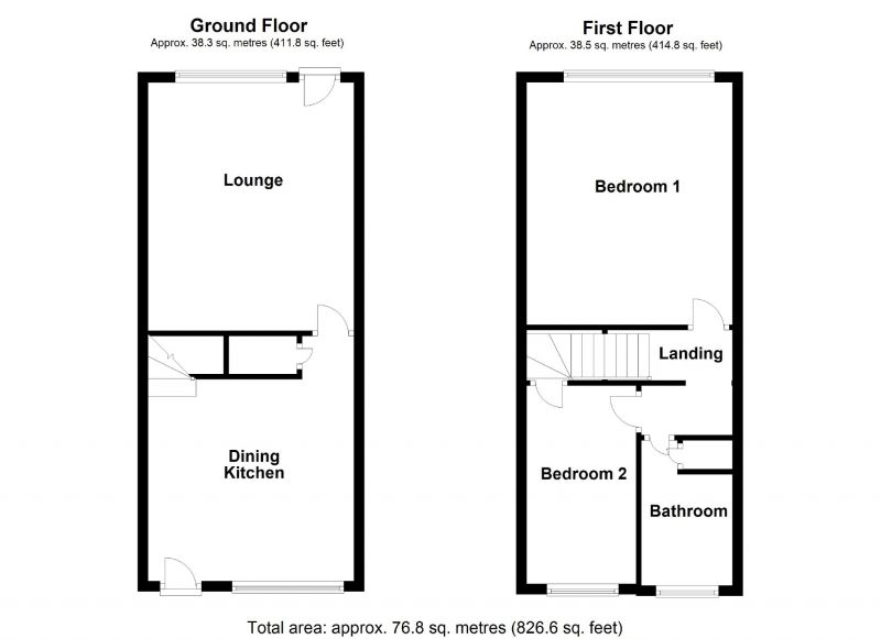Floorplan for Fairlands View, Rochdale