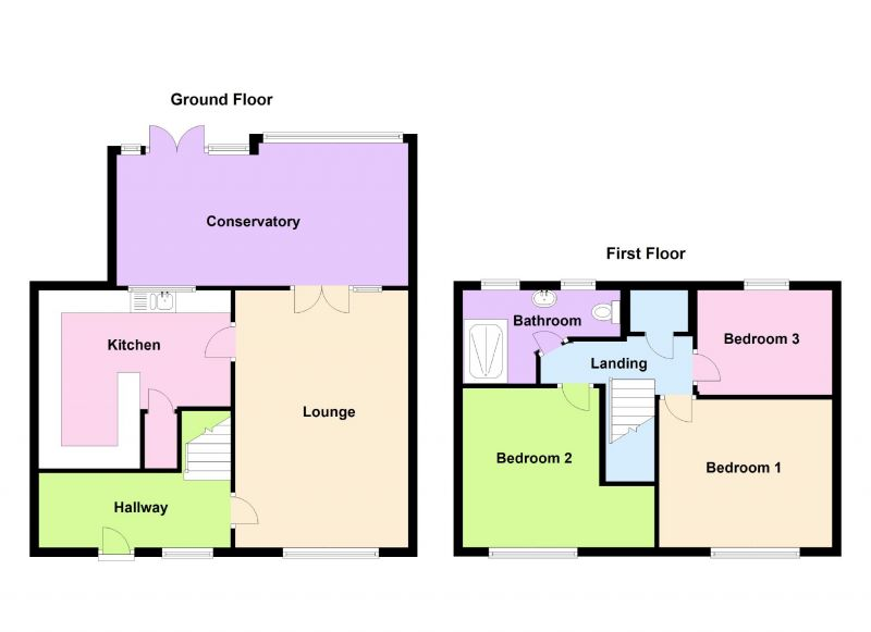 Floorplan for Gray Close, Mottram, Hyde