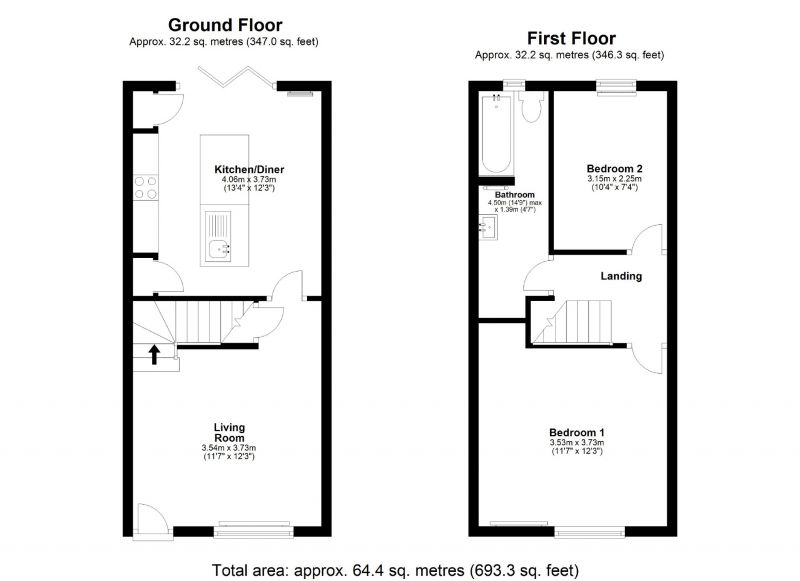 Floorplan for New Hey Road, Cheadle, Stockport