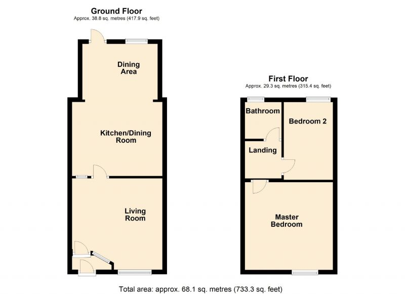 Floorplan for Pine Street, Woodley, Stockport