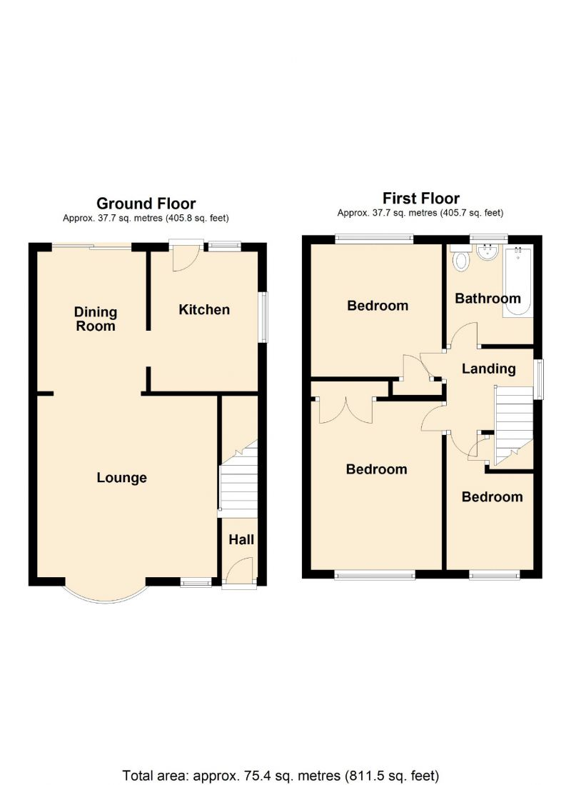 Floorplan for Whimbrel Road, Offerton, Stockport