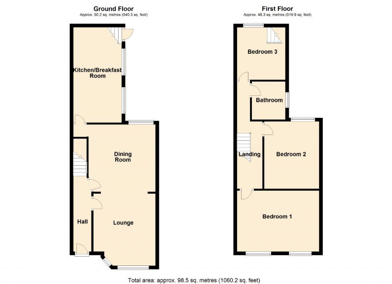 Floorplan for Broom Lane, Manchester