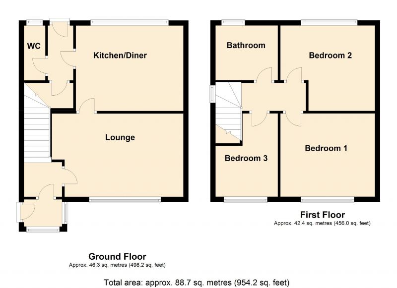 Floorplan for Horbury Avenue, Manchester