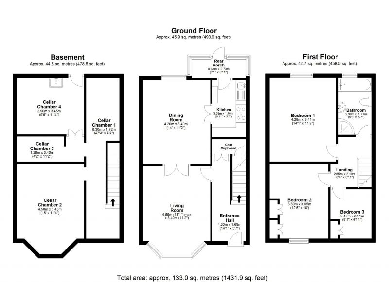 Floorplan for Reservoir Road, Edgeley, Stockport