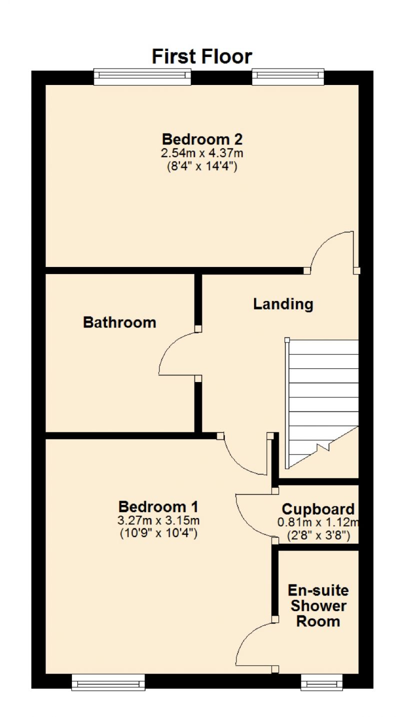 Floorplan for Botha Close, Openshaw, Manchester