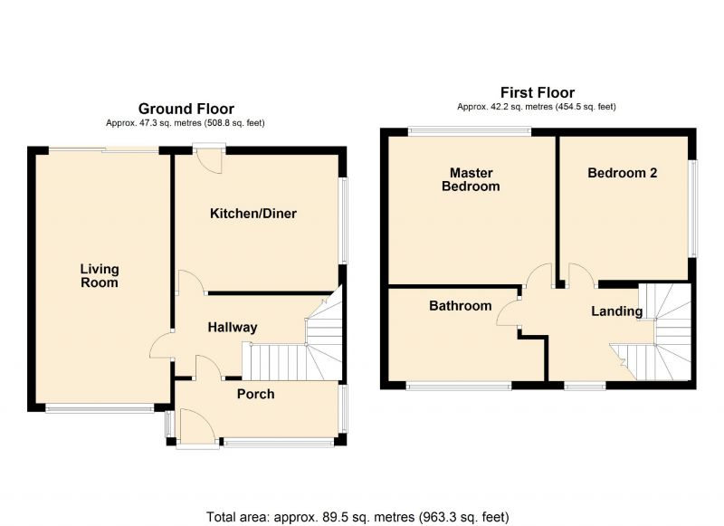 Floorplan for Lancaster Road, Denton