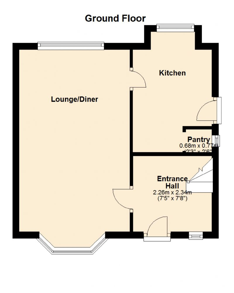 Floorplan for Masefield Road, Droylsden, Manchester
