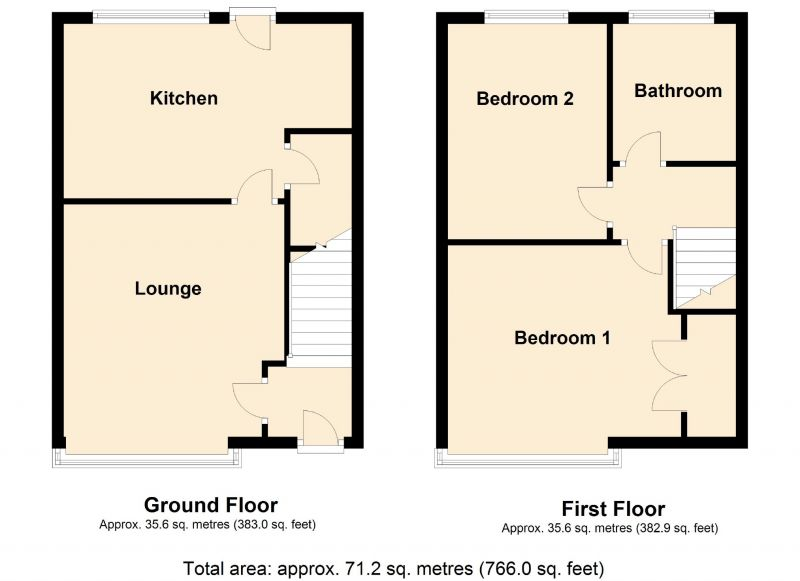 Floorplan for Belvedere Avenue, Reddish, Stockport