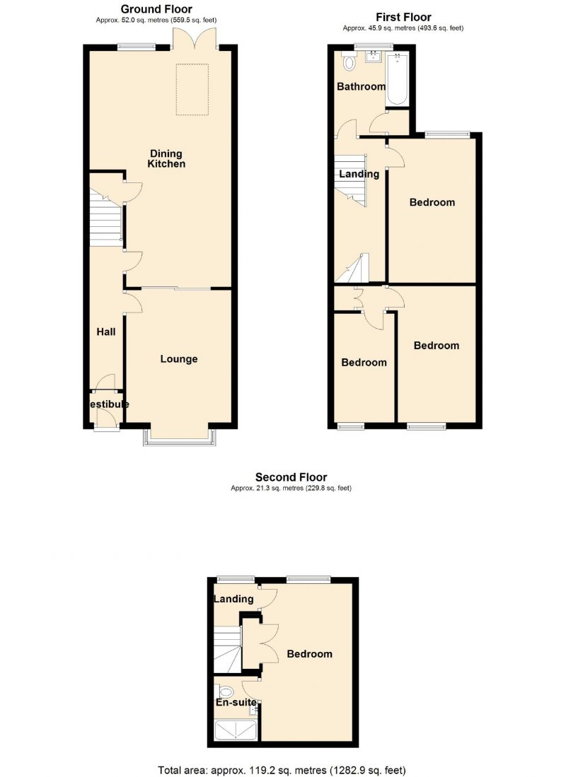 Floorplan for Union Road, Marple, Stockport
