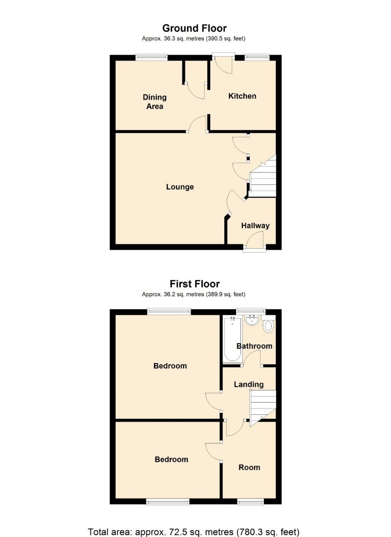 Floorplan for Cliffe Road, Glossop