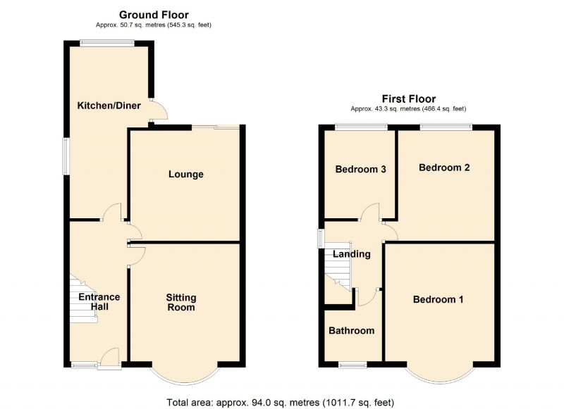 Floorplan for Fairholme Road, Manchester