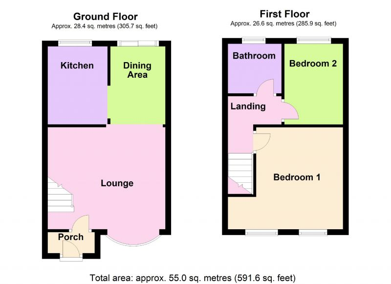 Floorplan for College Close, Heaviley, Stockport