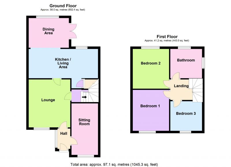 Floorplan for Whinchat Close, Offerton, Stockport