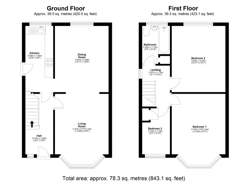 Floorplan for Cheadle Old Road, Edgeley, Stockport