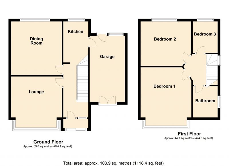 Floorplan for Marland Crescent, Stockport