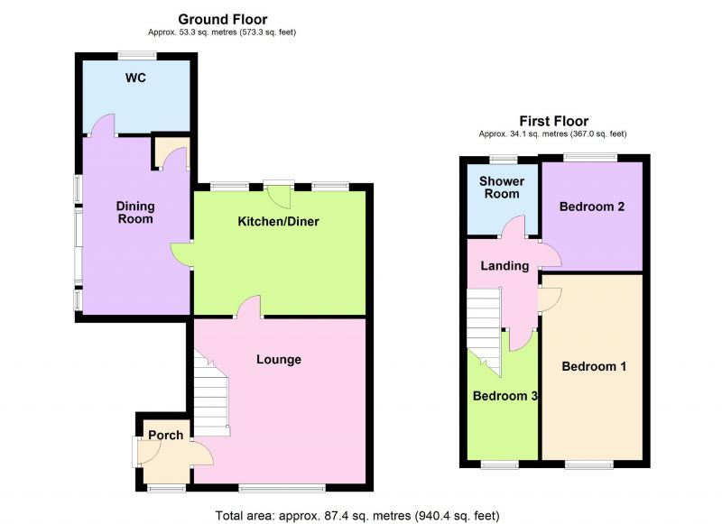 Floorplan for Armadale Close, Davenport, Stockport