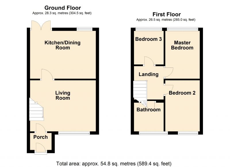 Floorplan for Bayley Close, Hyde