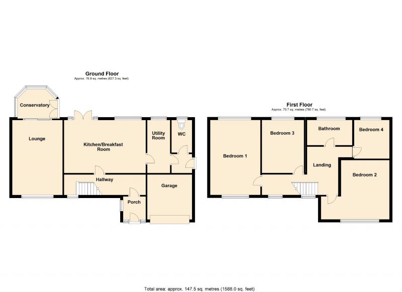 Floorplan for Broad Hey, Romiley, Stockport