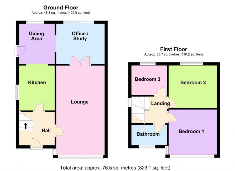 Floorplan for Berkeley Close, Offerton, Stockport