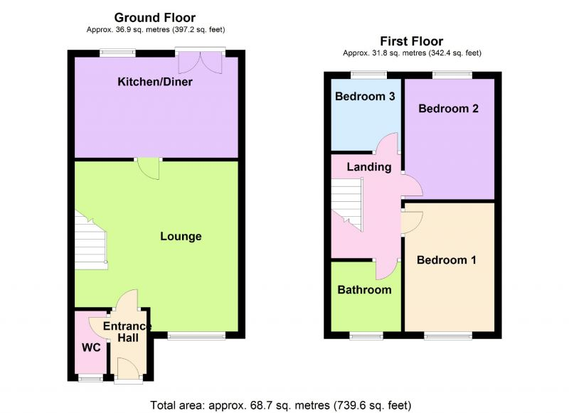 Floorplan for Beekeeper Close, Offerton, Stockport