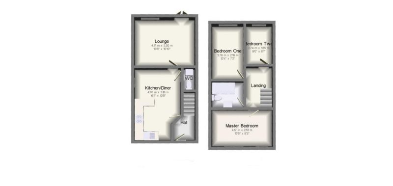 Floorplan for Lauderdale Crescent, Manchester