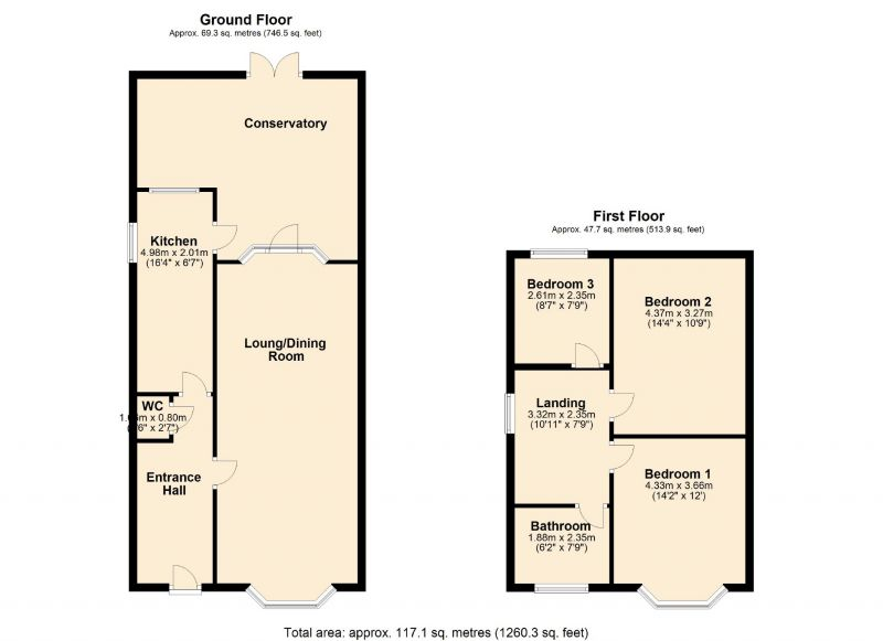 Floorplan for Cottonfield Road, Manchester