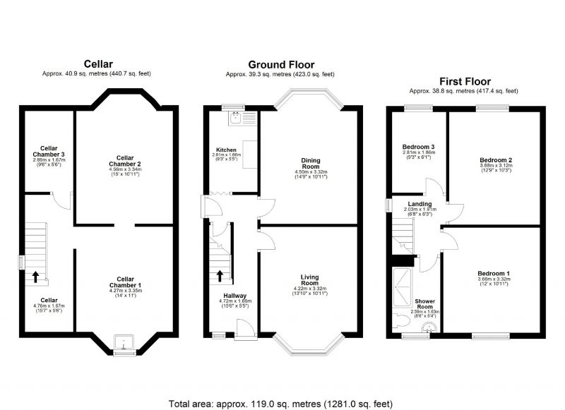 Floorplan for Cashmere Road, Edgeley, Stockport