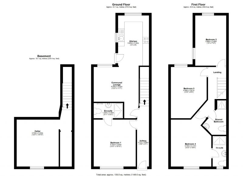 Floorplan for Cunliffe Street, Edgeley, Stockport