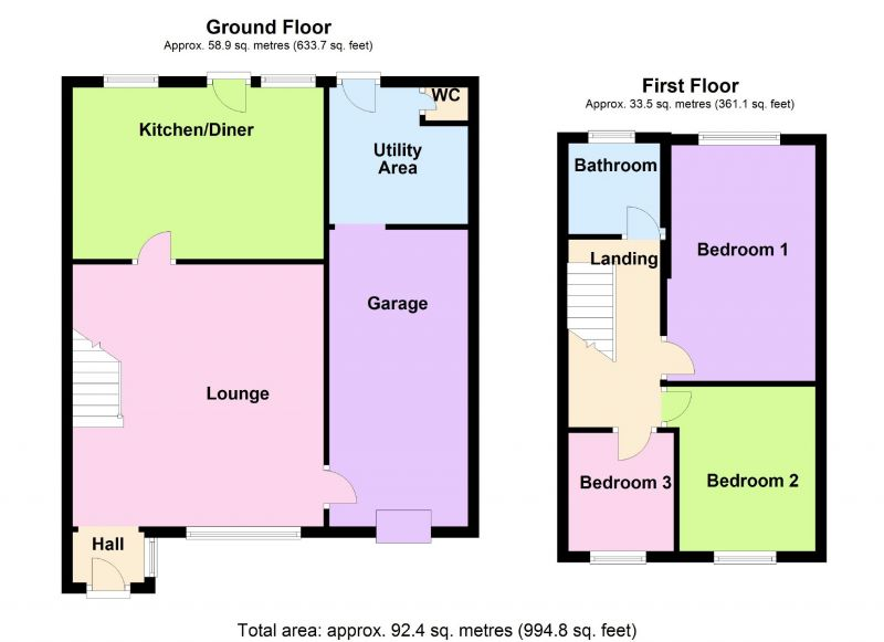 Floorplan for Hampstead Drive, Great Moor, Stockport