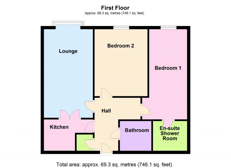 Floorplan for Riverside Court, Waters Edge, Marple Bridge, Stockport