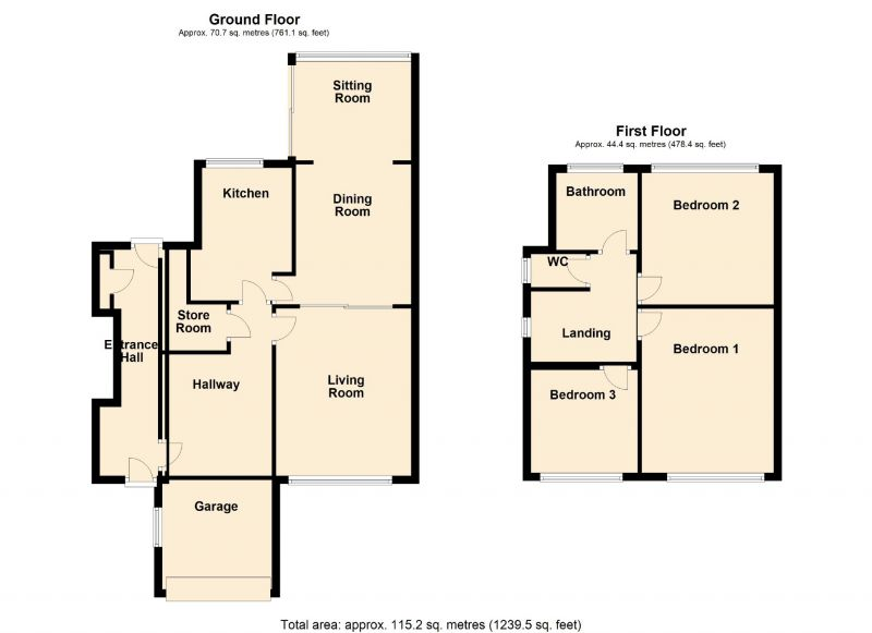 Floorplan for Briarley Gardens, Woodley, Stockport